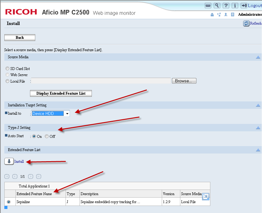 MFPs - OnBoard for Ricoh SDK/J versions 2 x-5 x – Argos support